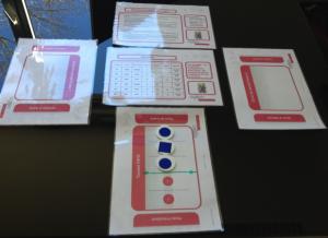 Exemple de supports du jeu pédagogique Agilea
